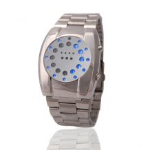 LED hodinky Dot Matrix pánské s modrým LED (DOT 01)
