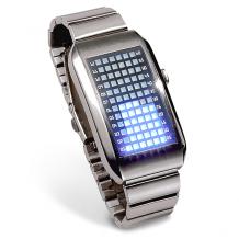 Binární hodinky 72 PRO Silver BLUE (PRO 01)