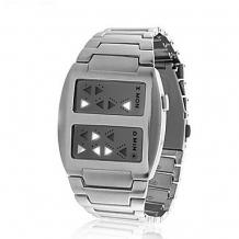 Binární LED hodinky Templar stříbrné (TMP 01)